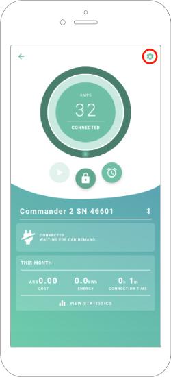 Commander 2 app main screen